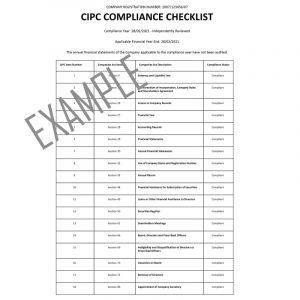 CIPC Compliance Certificate